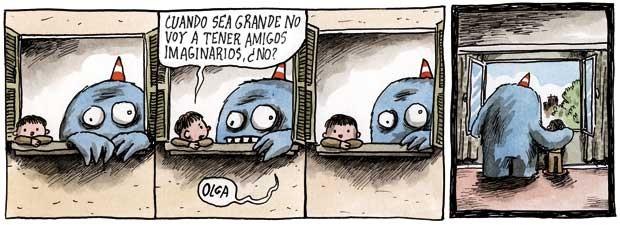 Liniers: Cuando sea grande no voy a tener amigos imaginarios, ¿no?