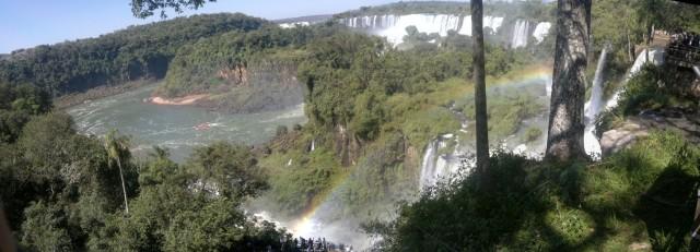 Panorámica de las cataratas de Iguazú (desde el lado argentino)