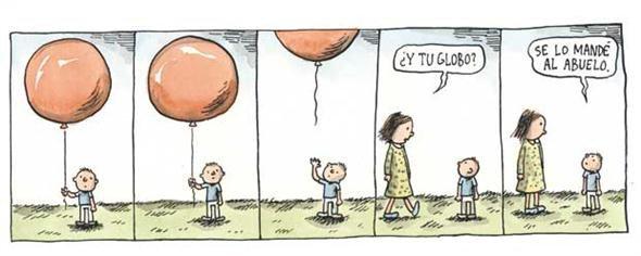 Liniers: ¿Y tu globo? Se lo mandé al abuelo