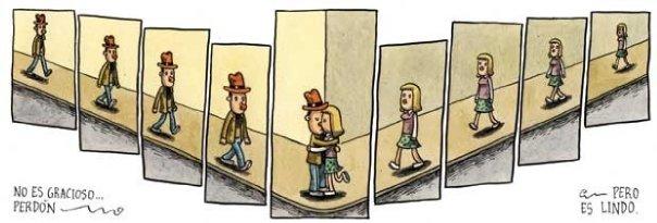 Liniers: No es gracioso -perdón-, pero es lindo