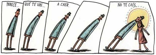 Liniers: Parece que te vas a caer... no te caés