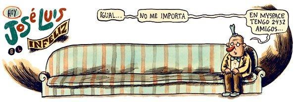 Liniers: Igual... no me importa, en myspace tengo 2432 amigos...