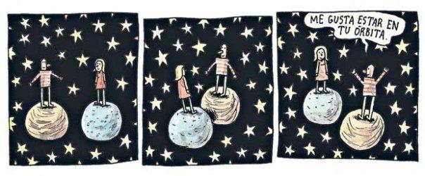 Liniers: Me gusta estar en tu órbita