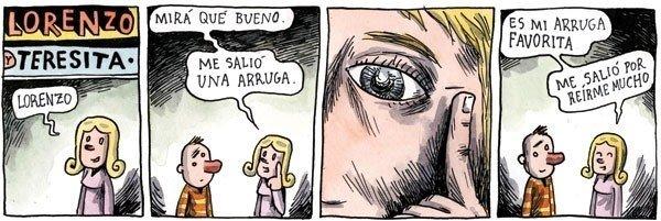 Liniers: Es mi arruga favorita, me salió por reírme mucho