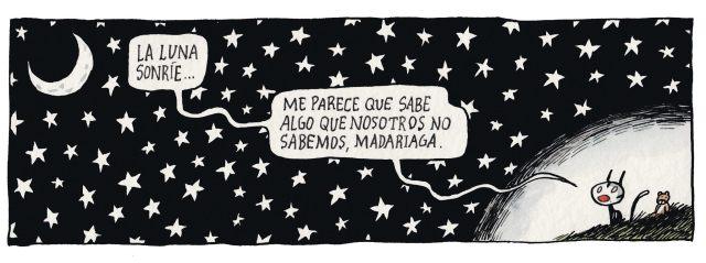 Liniers - La luna sonríe... me parece que sabe algo que nosotros no sabemos, Madariaga