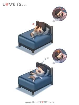 HJ-story.com - El amor es... quedarse dormido hablando por el móvil