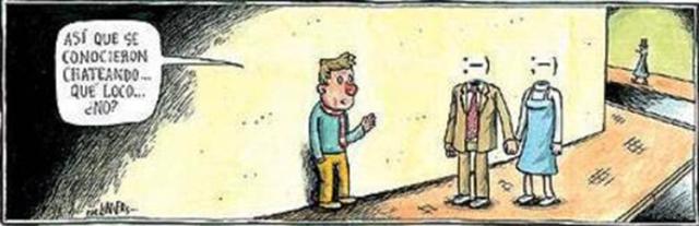 Liniers: Así que se conocieron chateando… qué loco… ¿no?