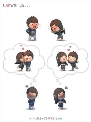HJ-story.com - El amor es... estar enfadados y pensar solo en ti