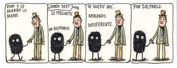 Liniers – Vino y le agarró la mano -¿Quién sos?- le preguntó. No respondió. Se quedó ahí… Mirando. Indiferente. Sin soltarlo.