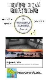 Nadie Nos Entiende recibió 4 nominaciones a The Versatile blogger Award