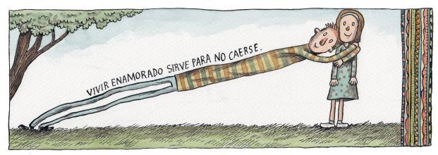 Liniers – Vivir enamorado sirve para no caerse.