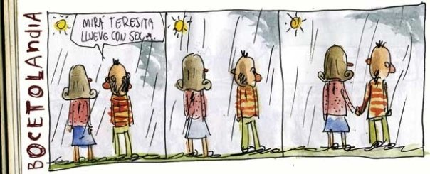 Liniers – Mirá Teresita, llueve con sol.