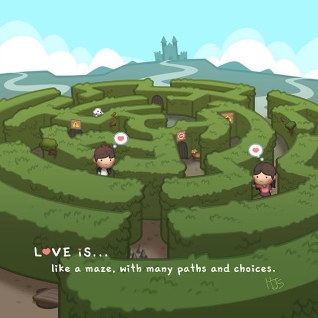 HJ-story.com – El Amor es como un laberinto, con muchos caminos y opciones.