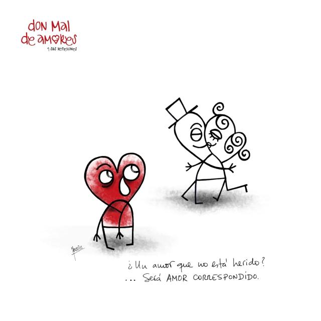 DonMalDeAmores.com - ¿Un amor que no está herido? … será AMOR CORRESPONDIDO