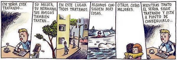 Liniers – (…) Mientras tanto el señor sigue tratando y está a punto de conseguirlo…