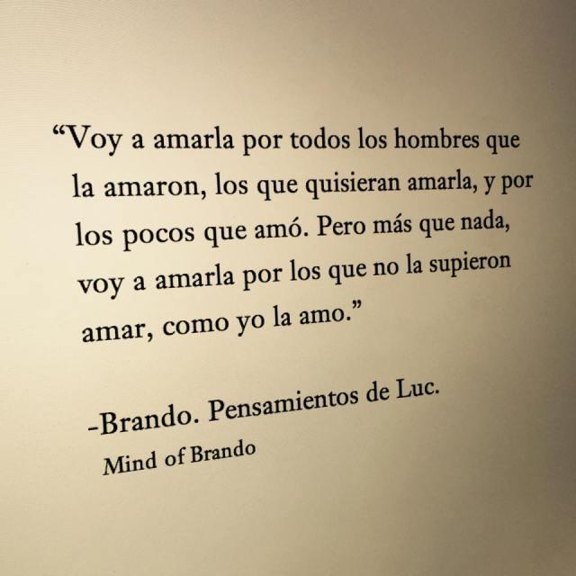 Mind of Brando – Brando. Pensamientos de Luc –