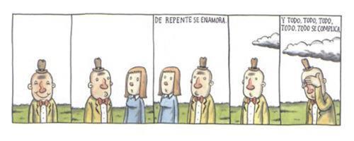 Liniers – De repente se enamora. Y todo, todo, todo, todo, todo se complica.
