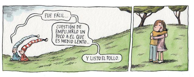Liniers – Fue fácil… cuestión de empujarlo un poco a él que es medio lento… y listo el pollo.