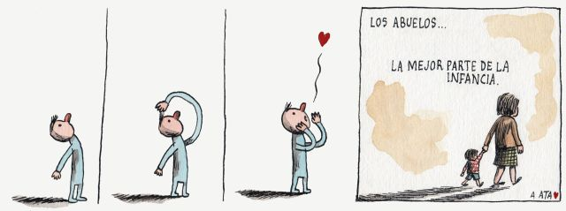 Liniers – Los abuelos… la mejor parte de la infancia.