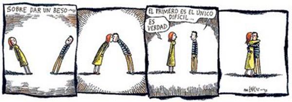 Liniers – Sobre dar un beso: El primero es el único difícil… Es verdad