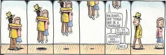 Liniers –Bajamos, que tengo que ir a trabajar. –Sí, yo también –¿Después nos vemos? –Dale