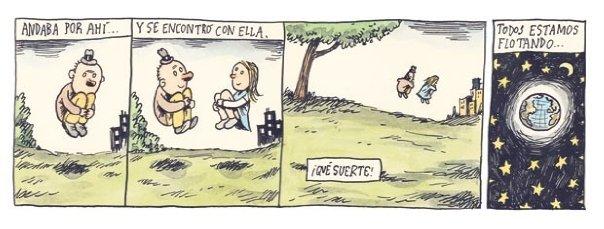 Liniers – Andaba por ahí… y se encontró con ella. ¡Qué suerte! Todos estamos flotando…