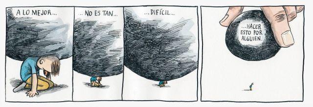 Liniers – A lo mejor no es tan difícil hacer esto por alguien.
