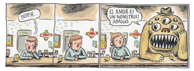 Liniers – El amor es un monstruo, amigo.