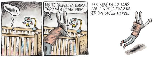 Liniers – Ser papá es lo más cerca que llegás de ser un super-héroe