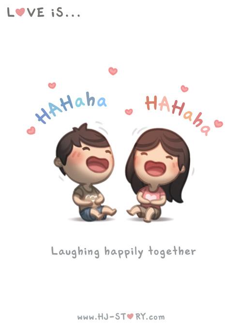 HJ-story.com – El amor es reír felizmente juntos