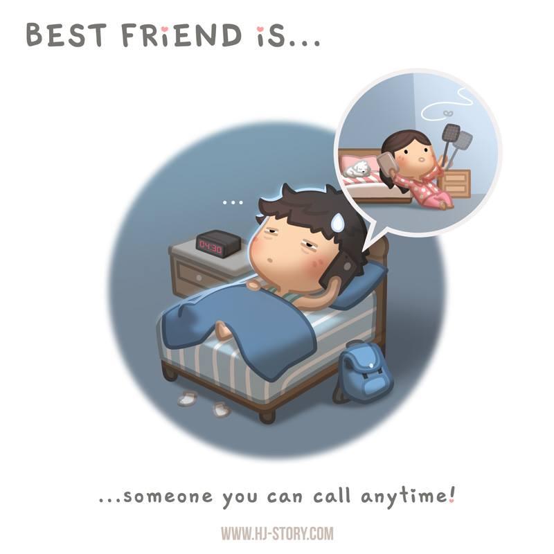 HJ-story.com – Mejor amig@ es… ¡alguien a quien puedes llamar en cualquier momento!