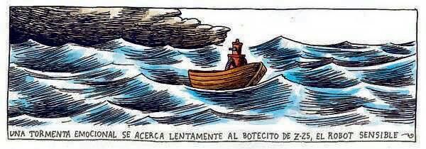 Liniers – Una tormenta emocional se acerca lentamente al botecito de Z-25, el robot sensible