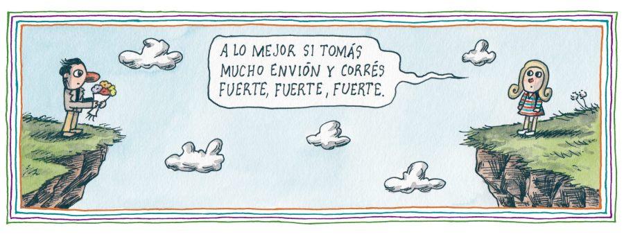 Liniers – A lo mejor si tomás mucho envión y corrés fuerte, fuerte, fuerte.